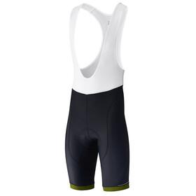 Shimano Aspire Bib Shorts Herren black/lime yellow